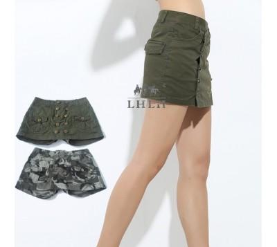 褲裙 迷彩 純棉 軍綠
