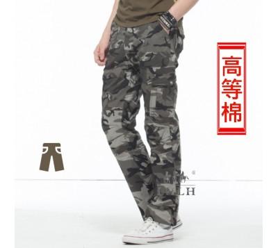 迷彩褲 軍綠色 純棉
