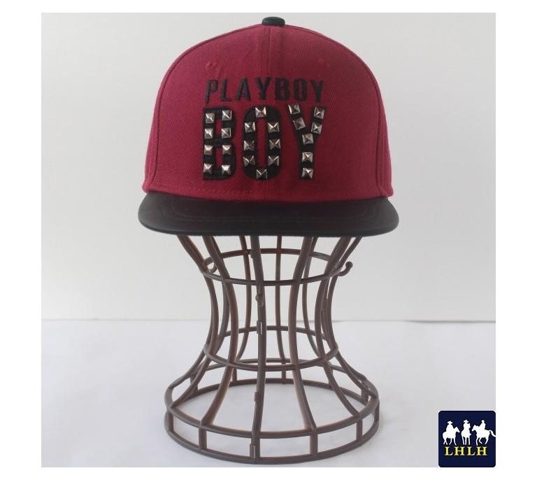 棒球帽 鉚釘 平沿帽