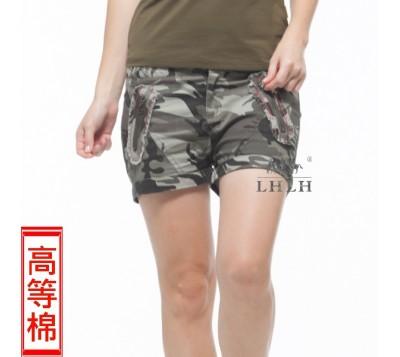 女純棉迷彩短褲