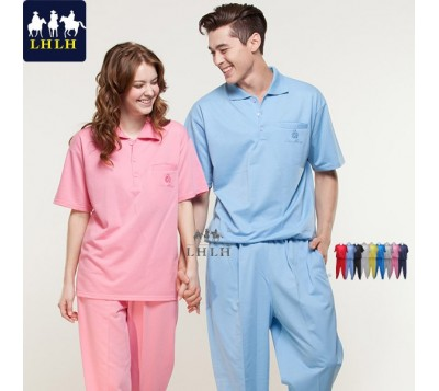 Short-Sleeve Polo Shirts Sportswears Overalls (Men/Women) (Hem Shrinking & Shrinking Pant)