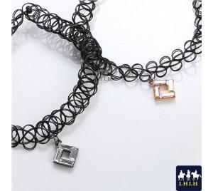 鑽方塊頸鍊項鍊 正韓