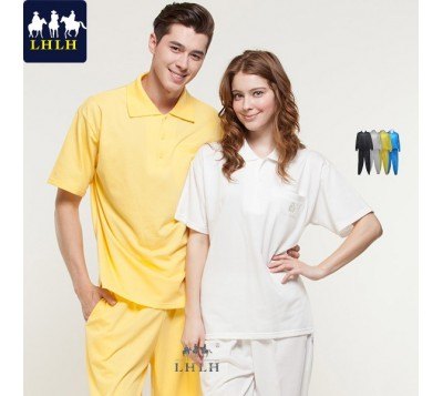 Short-Sleeve Polo Shirts Sportswears Overalls (Men/Women) (Hem Flat & Shrinking Pant)