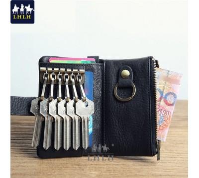 多功能真皮零錢包鑰匙包