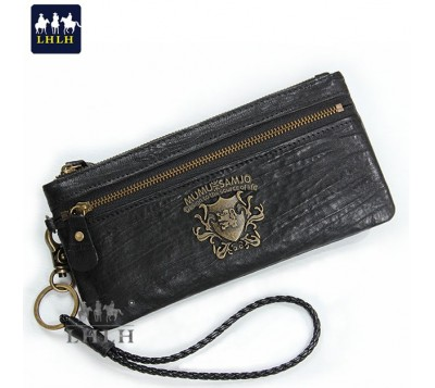 Genuine Leather Sheepskin Long Wallet