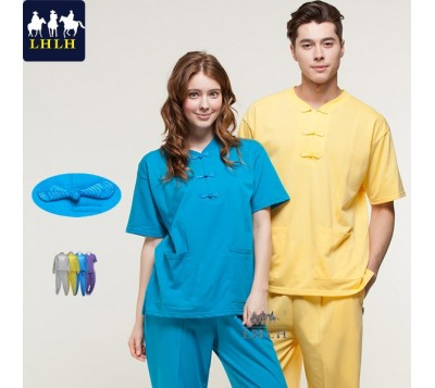 Short-Sleeve Chinese Clothing Suits (Hem Flat & Leg Opening Flat) (Men/Women)