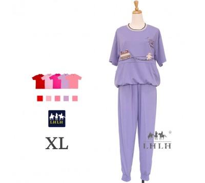 女休閒服套裝 短袖長褲 XL