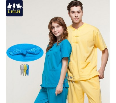 Short-Sleeve Chinese Clothing Suits (Hem Flat & Shrinking Pant) (Men/Women)