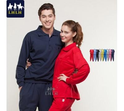 長袖運動服套裝 素 Polo衫 (男/女) 衣束褲束