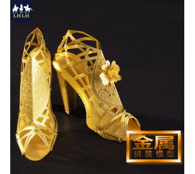 High Heeled Sandal 3D Metal Model