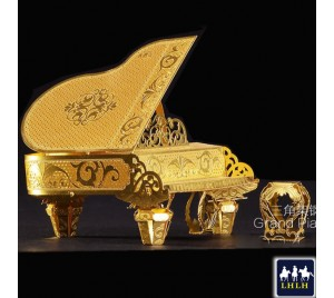 Grand Piano 3D Metal Model