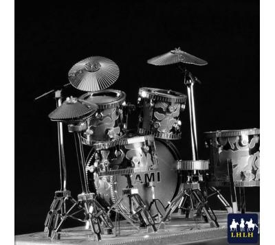 Drum Set 3D Metal Model