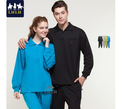 Long-Sleeve Polo Shirts Sportswears Overalls (Men/Women) (Hem Flat & Shrinking Pant)