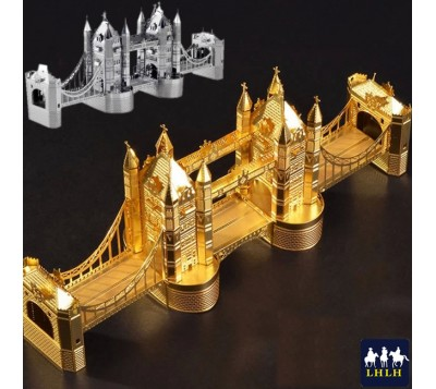 London Tower Bridge 3D Metal Model