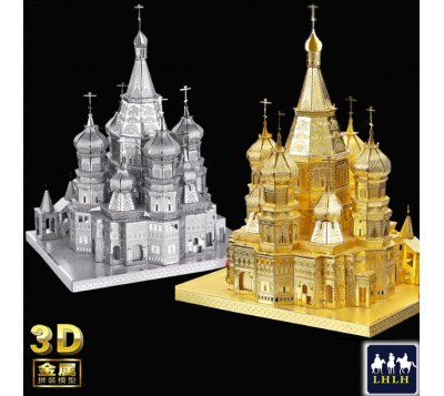 Saint Basil's Cathedral 3D Metal Model