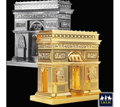Arc De Triomphe 3D Metal Model