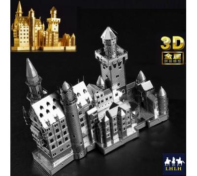 德國新天鵝石城堡 3D金屬模型