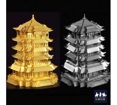 Yellow Crane Tower 3D Metal Model