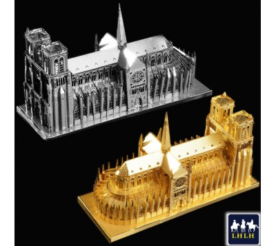 Notre Dame Cathedral 3D Metal Model