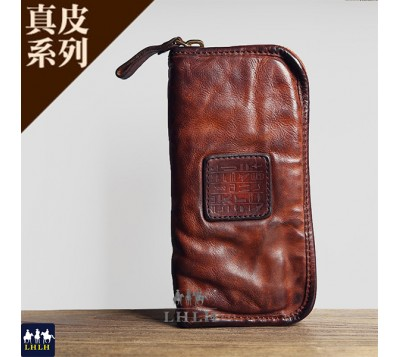 Genuine Leather Cow Leather Italian Style Long Wallet