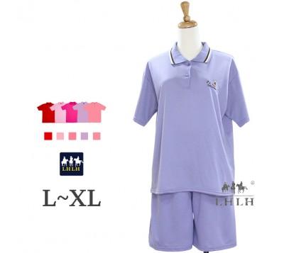 Women Leisure Wear Polo Shirt Short-sleeved Shorts