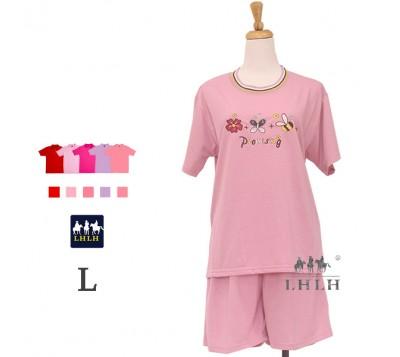 Women Leisure Wear Short-sleeved Shorts L
