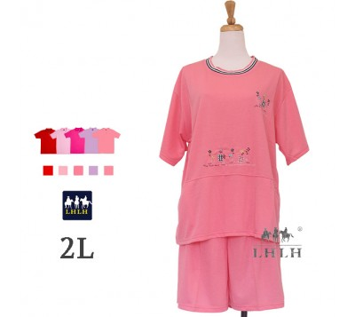 女家居服 中大尺碼 雙邊口袋 2L