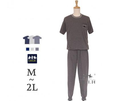 男家居服 短袖長褲 M~2L