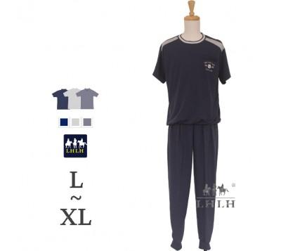 男運動套裝 短袖長褲 L~XL