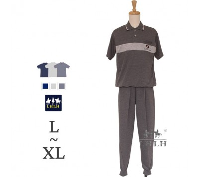 男休閒套裝 POLO衫 短袖長褲 L~XL