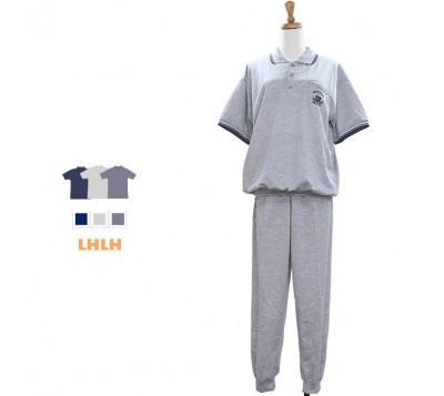 男居家服 POLO衫套装 短袖长裤 L~XL