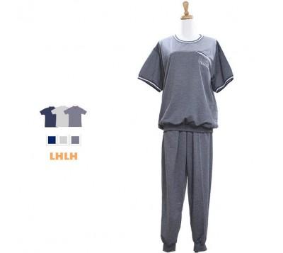 男休闲服 休闲套装 短袖长裤 L~XL