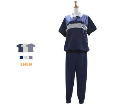 男家居服 休閒服 短袖長褲 L~XL