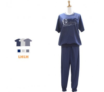 男运动服 家居服 居家服 短袖长裤 L~XL