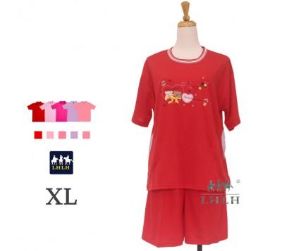 Women Leisure Wear Short-sleeved Shorts XL