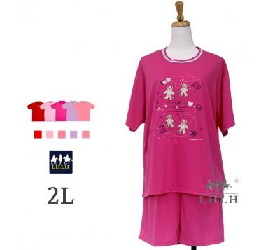 Women Leisure Wear Short-sleeved Shorts 2L
