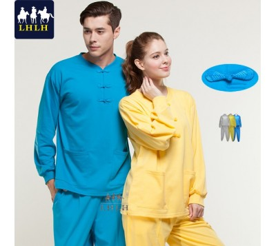 Long-Sleeve Chinese Clothing Suits (Hem Flat & Leg Opening Flat) (Men/Women)
