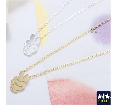 Fun YA Gesture Short Chain Necklaces Korea Green