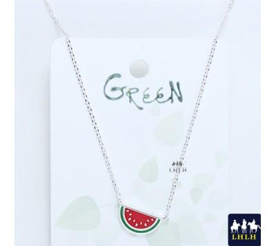 Cute Watermelon Short Chain Necklaces Korea Green
