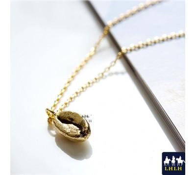 Coffee Bean Short Chain Necklaces Korea Green
