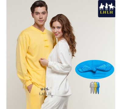 Long-Sleeve Chinese Clothing Suits (Hem Flat & Shrinking Pant) (Men/Women)