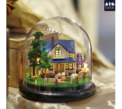 DIY Transparent Cover Music Box Gift Romantic Chateaux