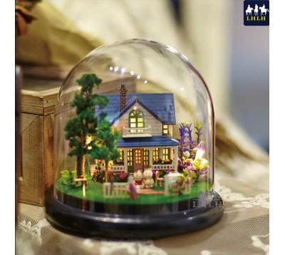 交换礼物 DIY音乐盒透明罩 浪漫庄园