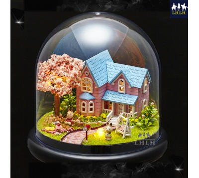 DIY Transparent Cover Music Box Gift Cherry Blossoms Conventions