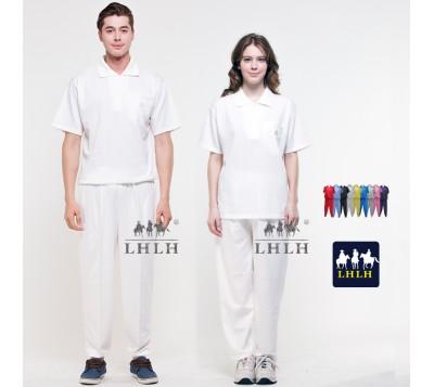 White Plain Sportswears Overalls Polo shirts short-sleeved (Men/Women)