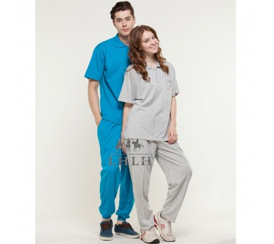 Gray Plain Sportswears Overalls Polo shirts short-sleeved (Men/Women)