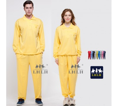 Yellow Sportswears Overalls Polo Shirts Long-Sleeved (Men/Women)