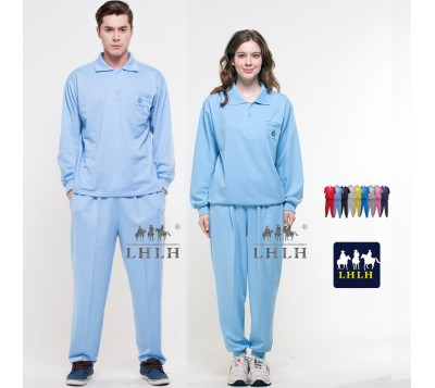 Aqua Sportswears Overalls Polo Shirts Long-Sleeved (Men/Women)