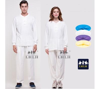 White Chinese Costume Overalls Long-Sleeve (Men/Women)