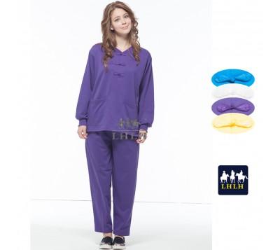 Dark Purple Traditional Chinese Clothing Long-Sleeve (Men/Women)